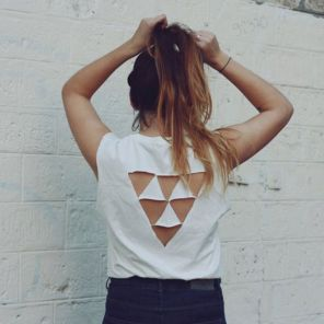 t-shirt blanc rock