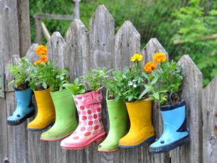 bottes fleurs decoration idées bricolage