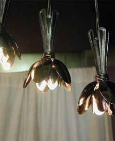 recycler cuillères lampes