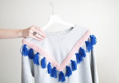 pull tricot ethnique